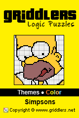 iGridd Books - Griddlers, Nonograms, Picross puzzles. Download PDF and print - Theme - Simpsons, Color
