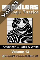 iGridd Bücher - Griddler, Nonogramme, Picross Puzzle. Als PDF herunterladen und drucken - Advanced - Black and White, Vol. 13