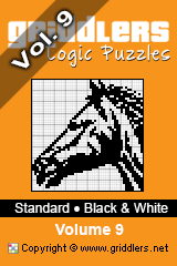 iGridd knjige - Griddlers, Nonograms, Picross uganke. Naložite PDF in natisnite - Standard - Black and White, Vol. 9