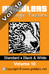 iGridd knjige - Griddlers, Nonograms, Picross uganke. Naložite PDF in natisnite - Standard - Black and White, Vol. 10