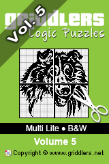 iGridd boeken - Griddlers, Japanse Puzzels, nonograms. Download de .pdf en druk hem af. - Multi Lite - Black and White, Vol. 5
