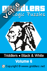 iGridd Books - Griddlers, Nonograms, Picross puzzles. Download PDF and print - Triddlers B&W Vol. 6