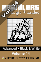 iGridd Bücher - Griddler, Nonogramme, Picross Puzzle. Als PDF herunterladen und drucken - Advanced - Black and White, Vol. 14