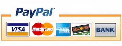 Paypal logo and cards